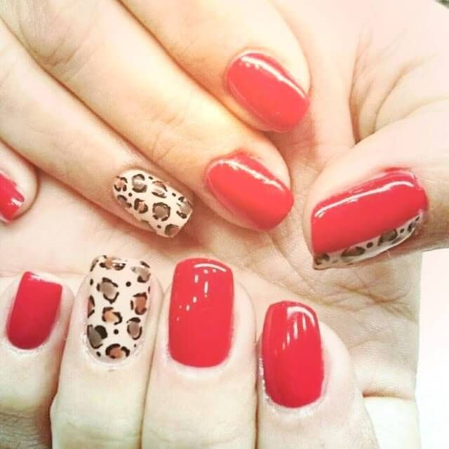 uas decoradas en color rojo decoracin de uas manicura y nail art