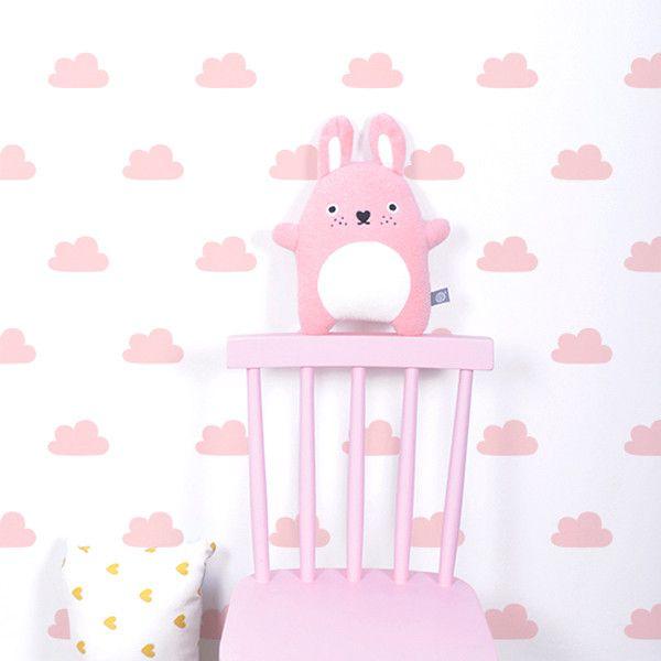 Papel pintado nubes rosa papel pintado infantil - Papel pintado infantil ...