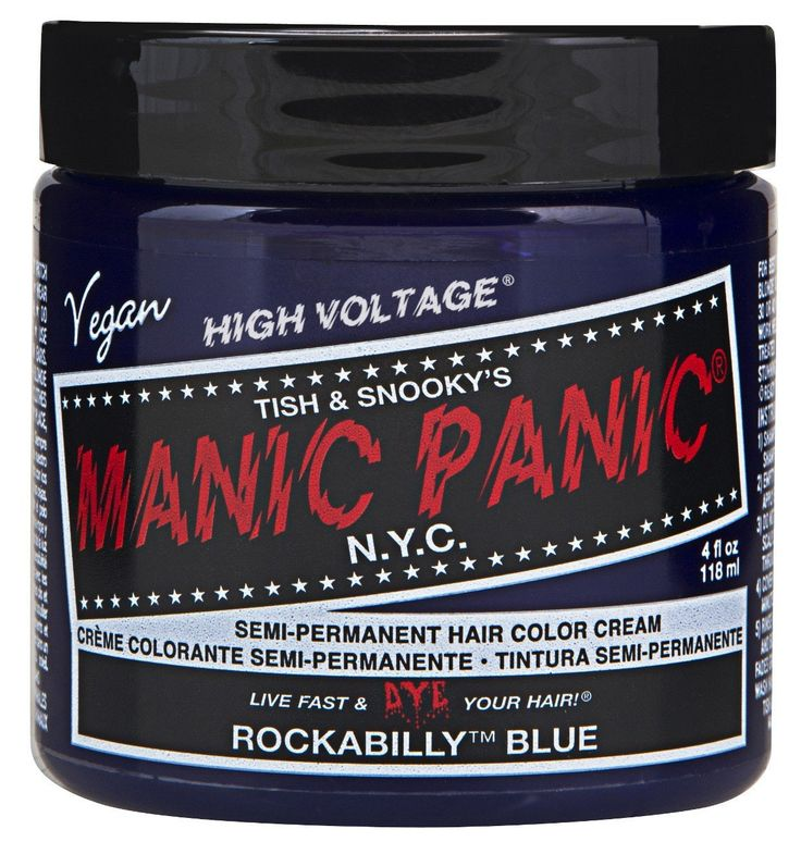 Manic Panic Semi-Permament Haircolor Rockabilly Blue 4oz (6 Pack) -- Click image to review more details.