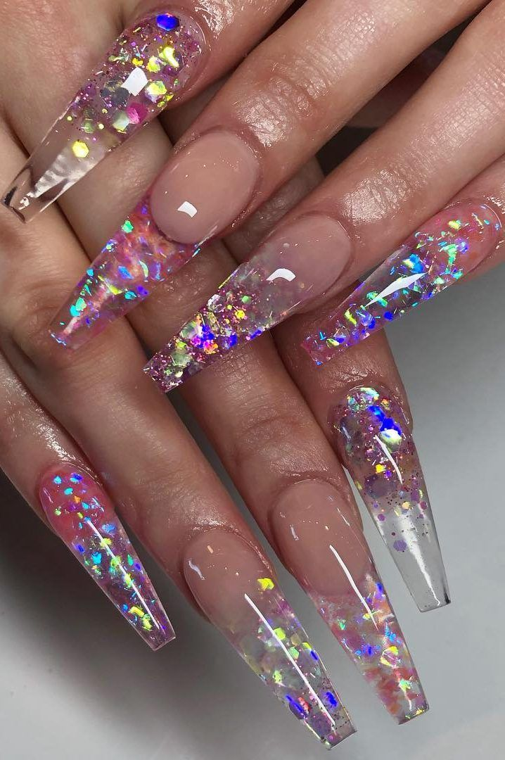 46 Best Acrylic Nails Designs For This Year 2019 Part 14 Glass Nails Art Best Acrylic Nails Acrylic Nail Designs