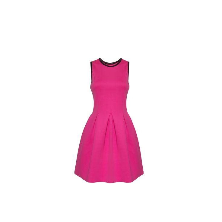 Naughty Dog #FW1415 pink scuba dress.