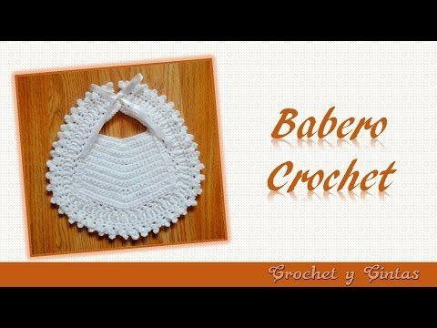 Babero para bebés tejido a crochet – Babero para ocasiones especiales - YouTube