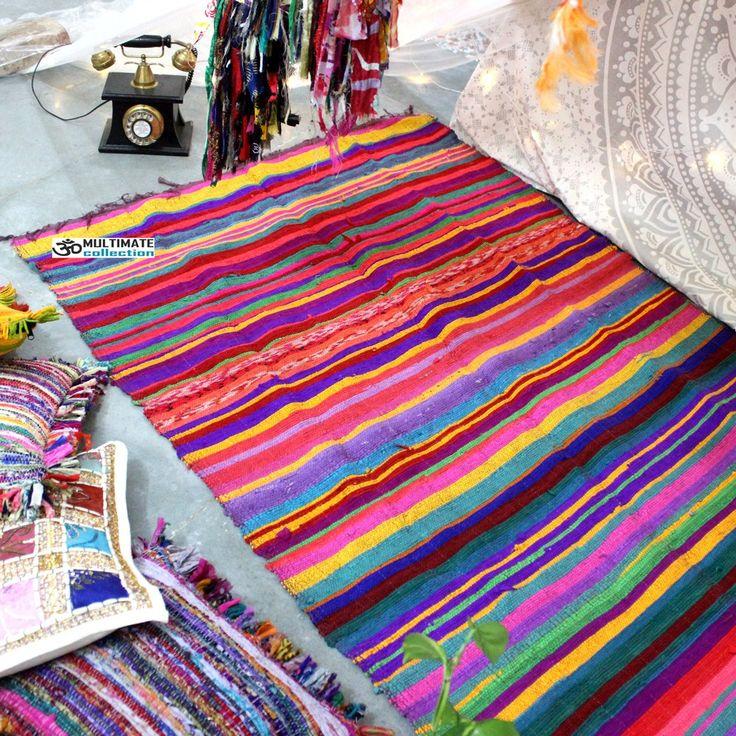 Floor Area Rug Woven Chindi Rugs