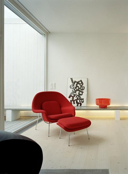 Via NetVibes | Saarinen Womb Chair | KNOLL http://decdesignecasa.blogspot.it/