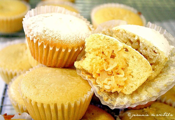 COCONUT MACAROON FILLED BUTTERMILK CUPCAKES