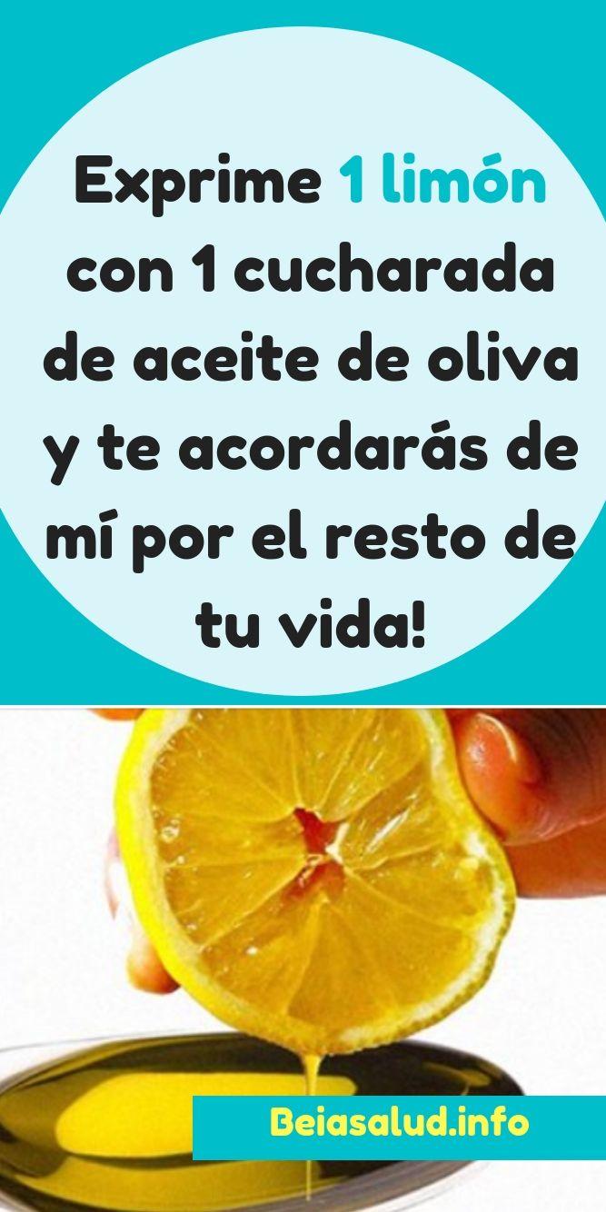 Exprime 1 limón con 1 cucharada de aceite de oliva y te acordarás de mí por el resto de tu vida!