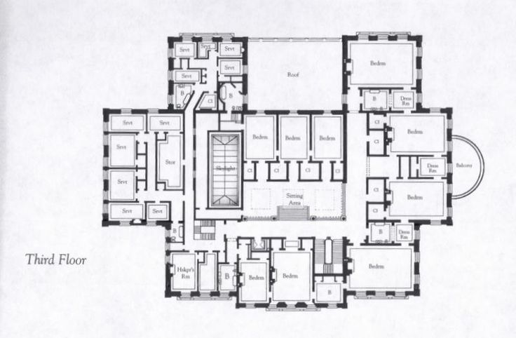 Breakers Mansion Third Floor Plan Mansions Pinterest
