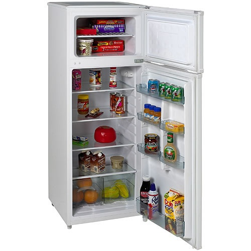 RA751WT   Avanti 7.5 CF Two Door Apartment Size Refrigerator   ADA $360