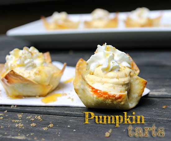Try these easy to make Pumpkin Tarts this fall!  #pumpkin #recipes #autumn