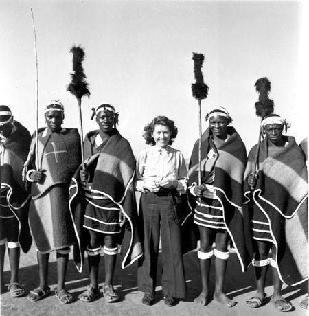 Constance Stuart Larrabee Constance Stuart with Ndebele Men