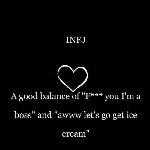 """Written by someone else, but I so agree, lol - """"Hahaha, so true.  We're always about the ice-cream and happy, fun stuff until you f*** with us."""""""