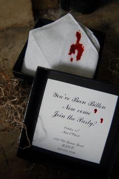 Bloody Vampire Handkerchief Invitation