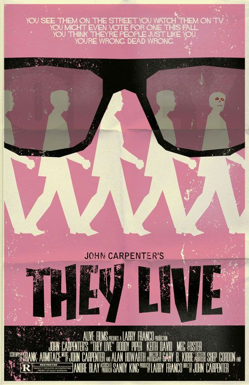They Live vintage style movie poster. $20.00, via Etsy.