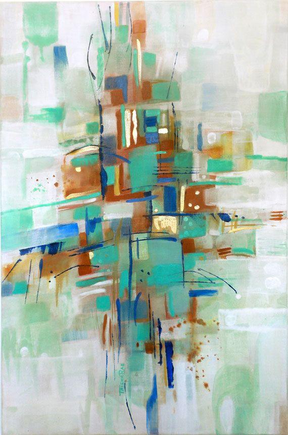 Original peinture abstraite art acrylique sur toile for Deco peinture originale