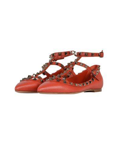 VALENTINO Valentino Garavani Rockstud Ballerinas. #valentino #shoes #valentino-garavani-rockstud-ballerinas