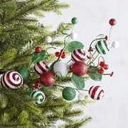 Jolly Striped Balls Tree Pick