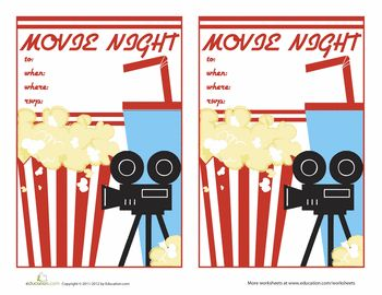 movie night invitations 2 party ideas movie night invitations