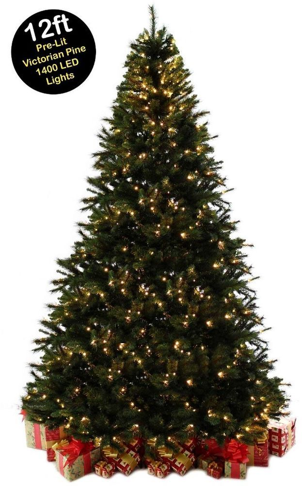 Giant Christmas Tree 12ft Pre Lit Commercial Led Lights Pine Metal Stand Xmas Uk Christmas Xmas S Christmas Decorations Tree Christmas Tree Xmas Decorations