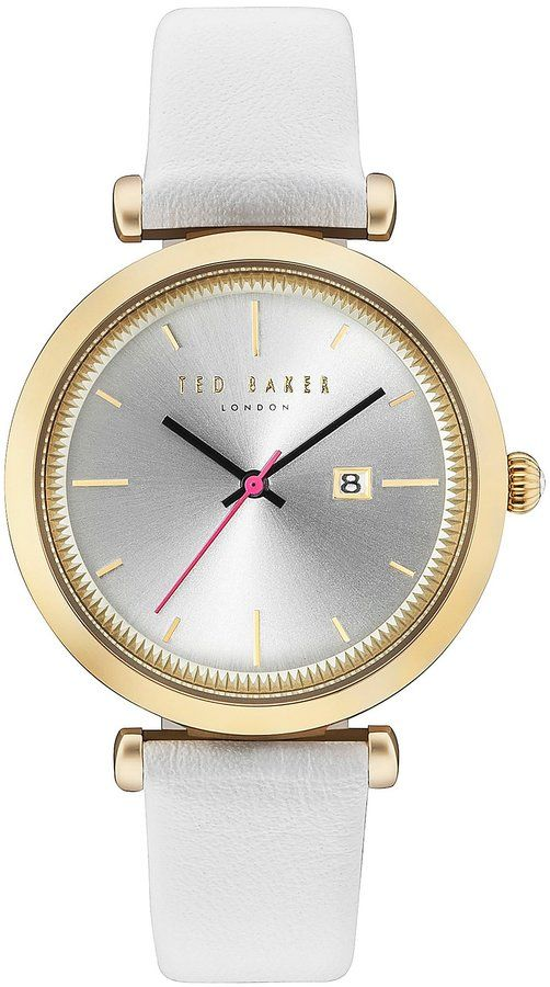 Ted Baker Ava Analog & Date Leather-Strap Watch