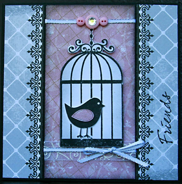 This one was from a card challenge blog. I love finding different ways to use my Kaszazz products and papers.