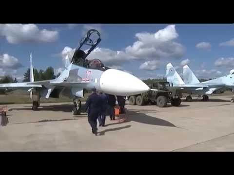 """El asalto de la playa de la cabina de un SU-27 """"Cáucaso-2016""""✭ Fuerza Aérea septiembre 2016 - YouTube"""