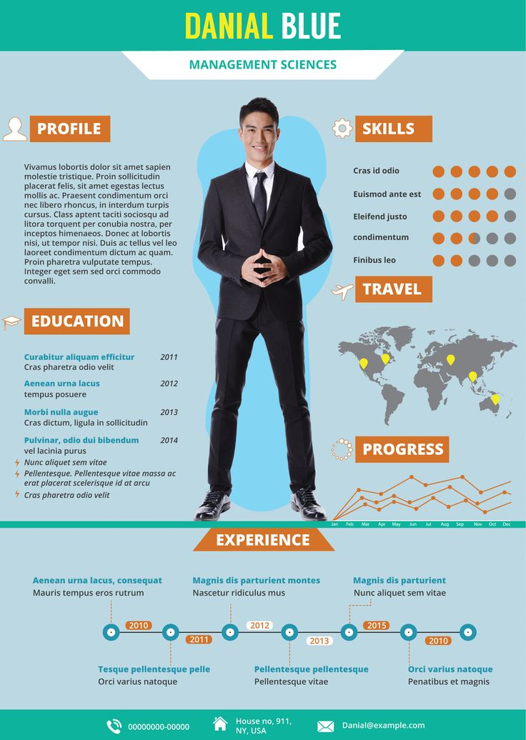 Give Your Resume A New Look And Get Hired! You Can Edit This Infographic  Resume