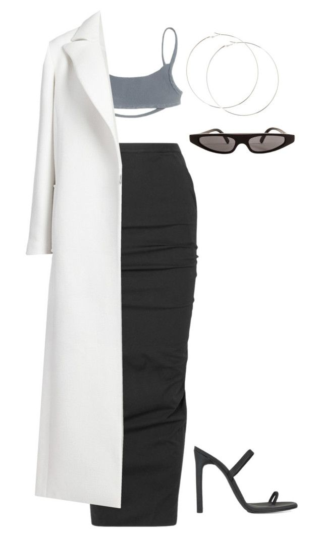 """basic"" by moodkilla ❤ liked on Polyvore featuring Rick Owens, Oscar de la Renta and Dolce&Gabbana"