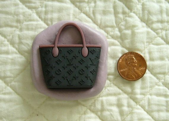 Designer Purse Handbag Food Grade Safe Silicone Mold for cake fondant,gum paste,chocolate,candy,sugar crafts,butter N more or for resins,polymer,clay,plaster,wax,low melt metals N more by MoldCreationsNmore on Etsy.com