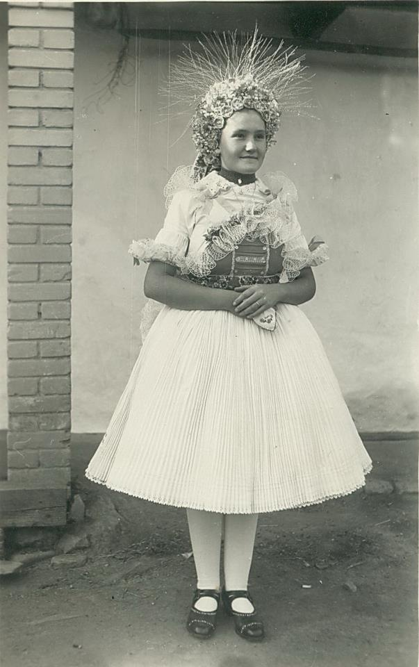 Bride from Nógrád village in the fifties.
