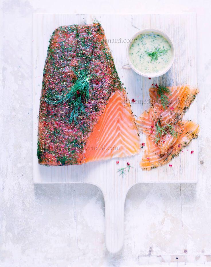 la cuisine de bernard le gravlax de saumon entr e. Black Bedroom Furniture Sets. Home Design Ideas
