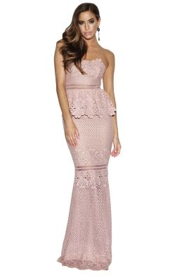 Grace & Hart - Frilling Around Gown - Nude - Front