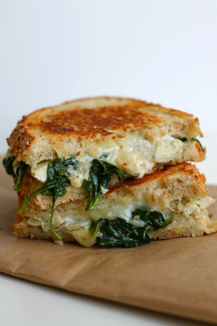 Spinach and Artichoke Grilled Cheese   Recipes   Pinterest