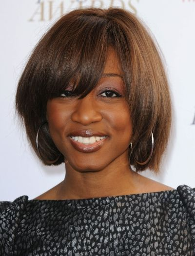 Highlighted hair for African American women   African American Bob Hairstyle Pictures