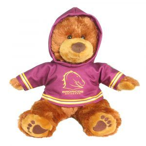 Broncos Plush Toys Supporter t-shirts with hood printed with team colours and logos