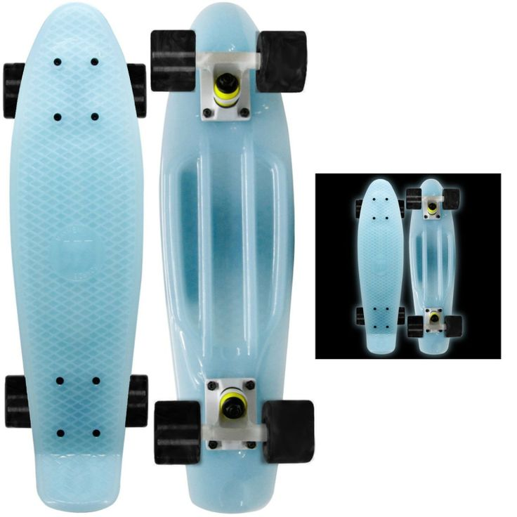 Blue Glow in the Dark Skateboard