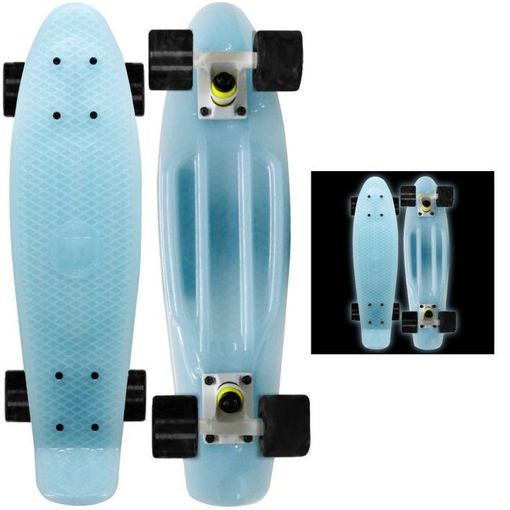 Blue Glow in the Dark Skateboard