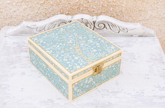 Tea box  Wooden box  Kitchen decor  Birthday gifts  by LekaArt