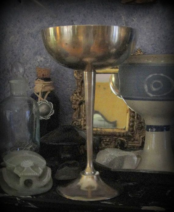 Vintage Witch's Brass Chalice Altar Cup Wiccan From by GypsyWiccan, $10.00