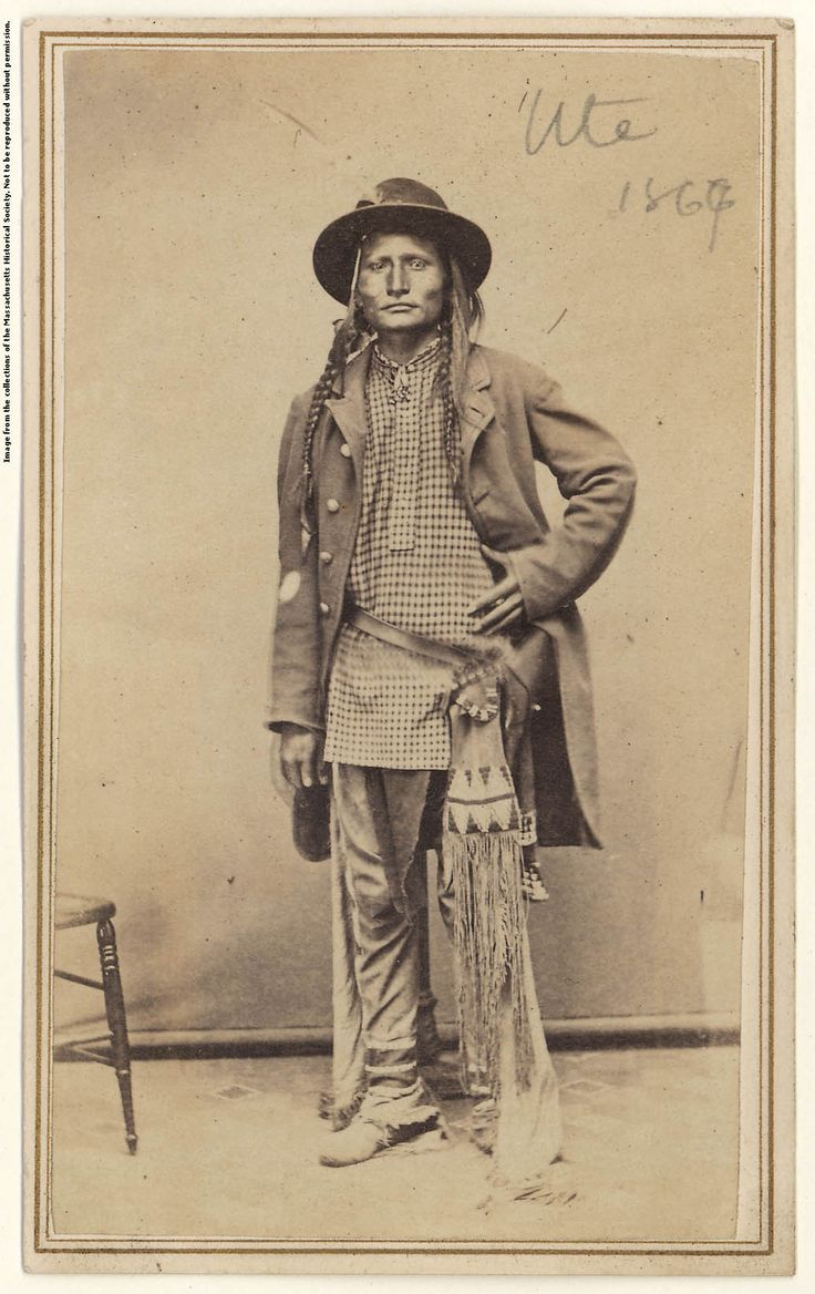 Ute man  Carte de visite by by C. F. Alter, 1867