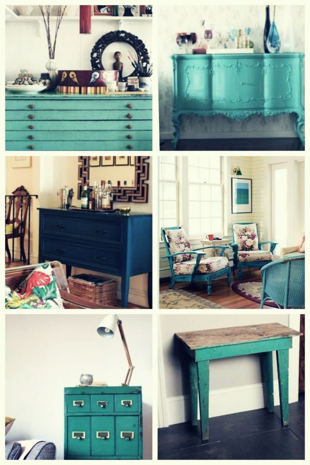 teal inspiration and DIY Table
