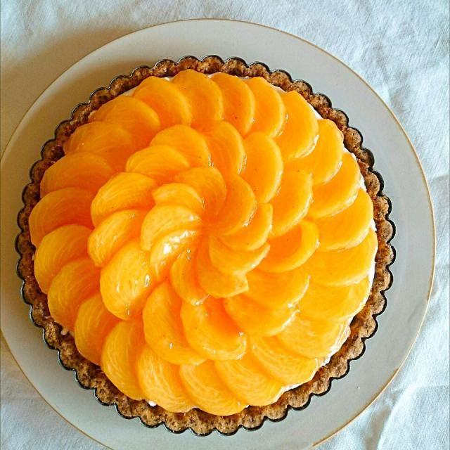 おけさ柿のタルト 柿 タルト ケーキ フルーツ お菓子 スイーツ