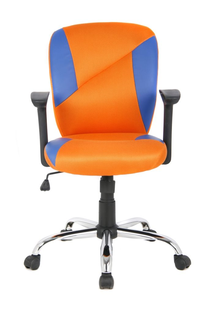 VIVA OFFICE® Chair Fashionable Multi Colored (Orange And Blue) Mid Back  Mesh Swivel Desk Chair, Office Computer Chair With Adjustable Seat Height  And Tilt