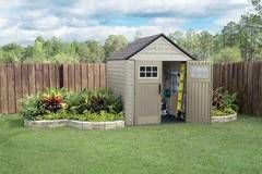 Shop Rubbermaid Roughneck Storage Shed (Common: 5-ft x 6-ft; Actual Interior Dimensions: 4.33-ft x 6-ft) at Lowes.com