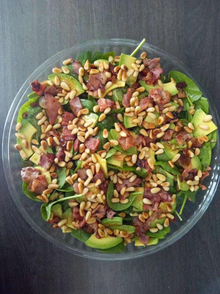 Салат с авокадо и беконом от Джейми Оливера - Andy Chef - блог о еде и путешествиях, пошаговые рецепты, интернет-магазин для кондитеров