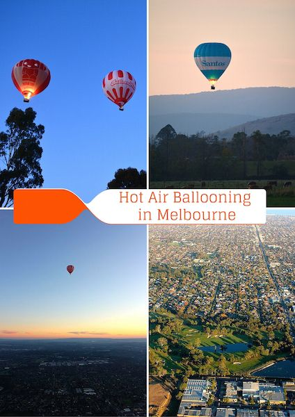 An hot-air Balloon Ride is a fantastic way to experience Melbourne from a different perspective!