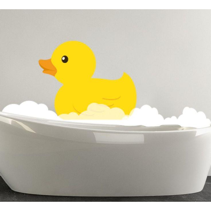 Stickers Mousse à Canard, stickers salle de bain pas cher - Deco Soon