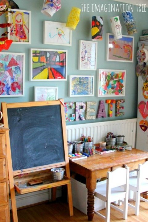 21 Ways to Display Kids Artwork - Children's Art Gallery at Imagination Tree