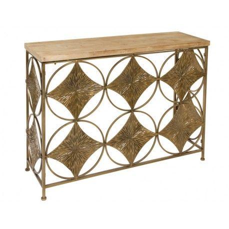 Mueble recibidor con estilo industrial modelo rombos - Recibidor industrial ...