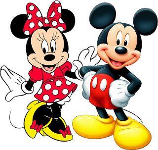 Mickey e Minnie – Kit Completo com molduras para convites, rótulos ...