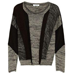 Helmut Lang Color-block linen-blend sweater